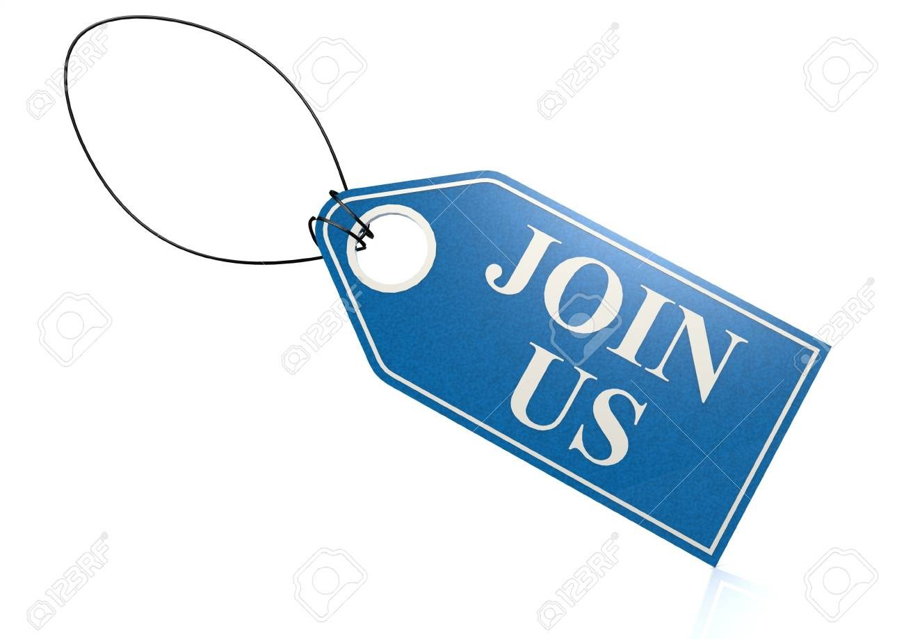 Join us label Stock Photo - 18942616
