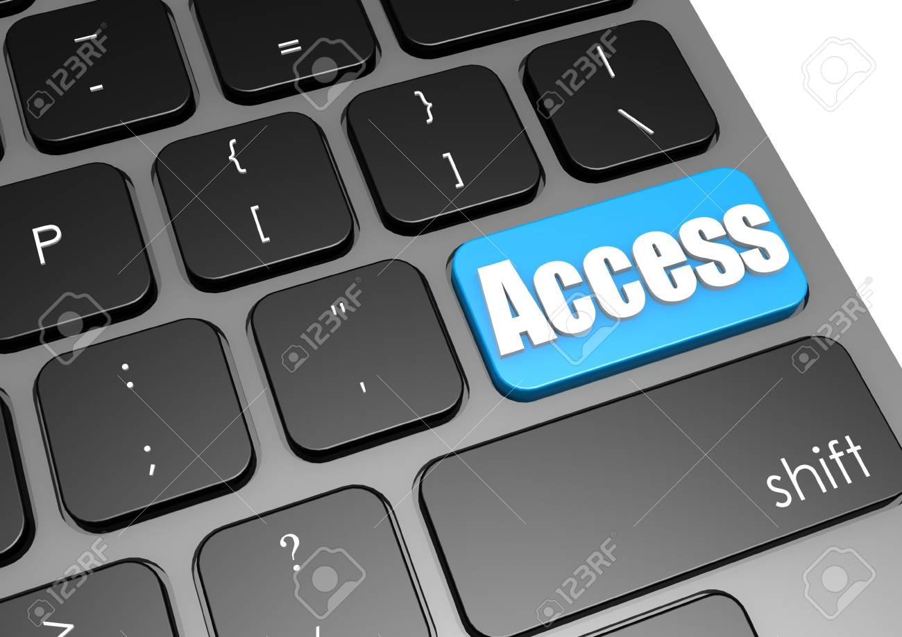 Access with black keyboard Stock Photo - 19046782