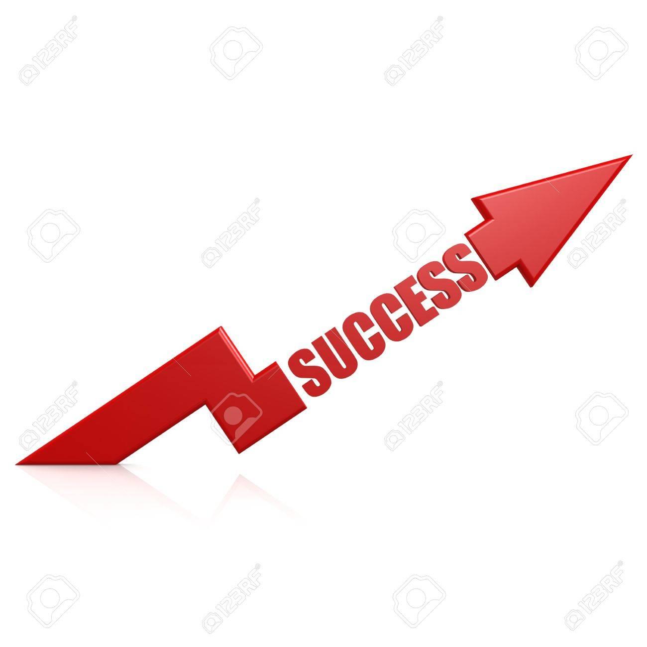 Success arrow up red - 25851992