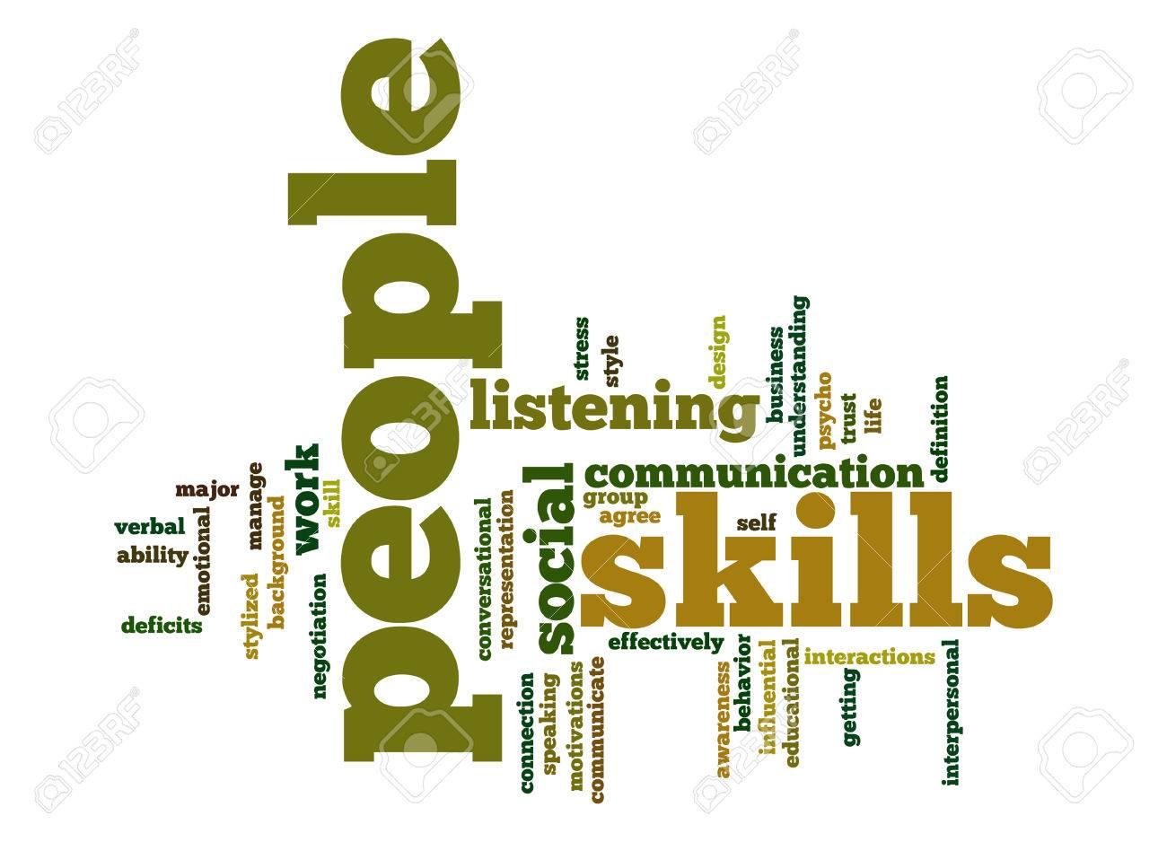 People skills word cloud - 25910959