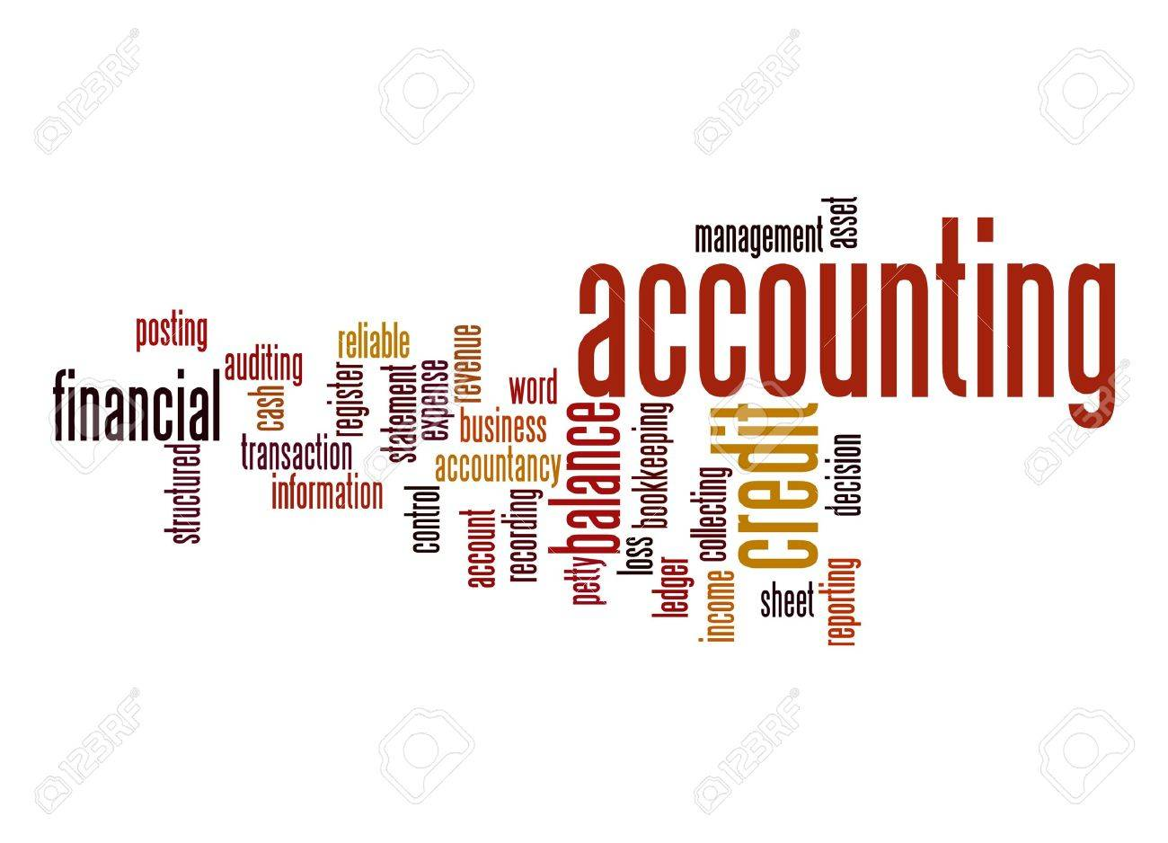 Accounting Word Cloud Stock Photo, Picture And Royalty Free Image ...