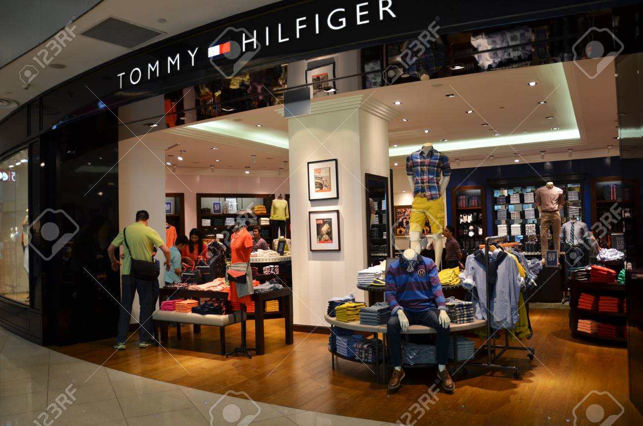 cd6b7c97 Tommy Hilfiger Shop In Singapore Stock Photo, Picture And Royalty ...