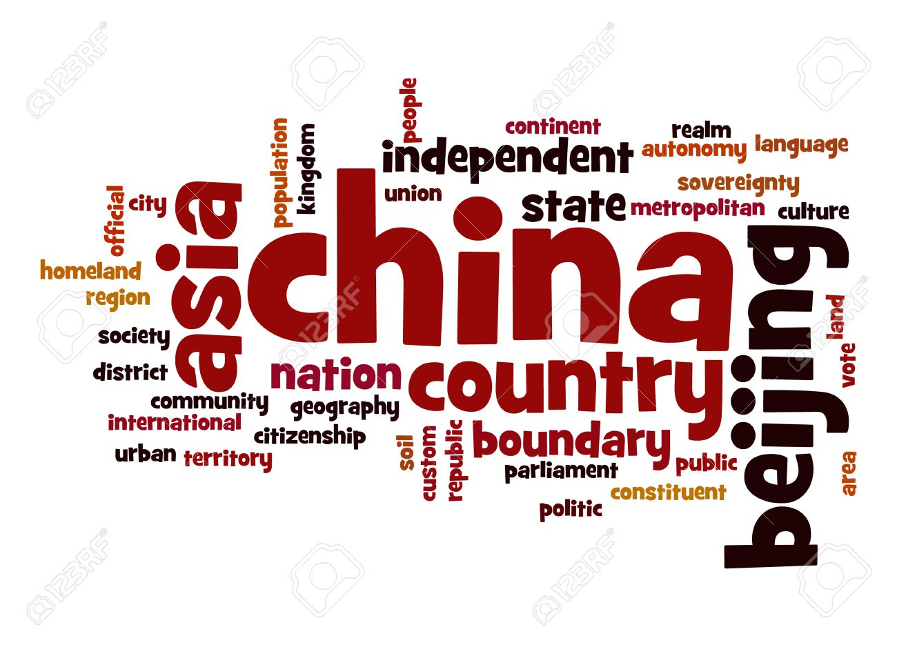 China Word Cloud Stock Photo, Picture And Royalty Free Image ...