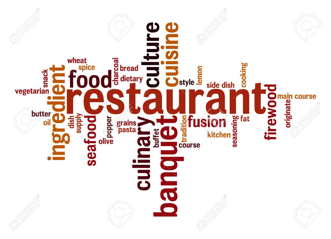restaurant word cloud stock photo picture and royalty free image