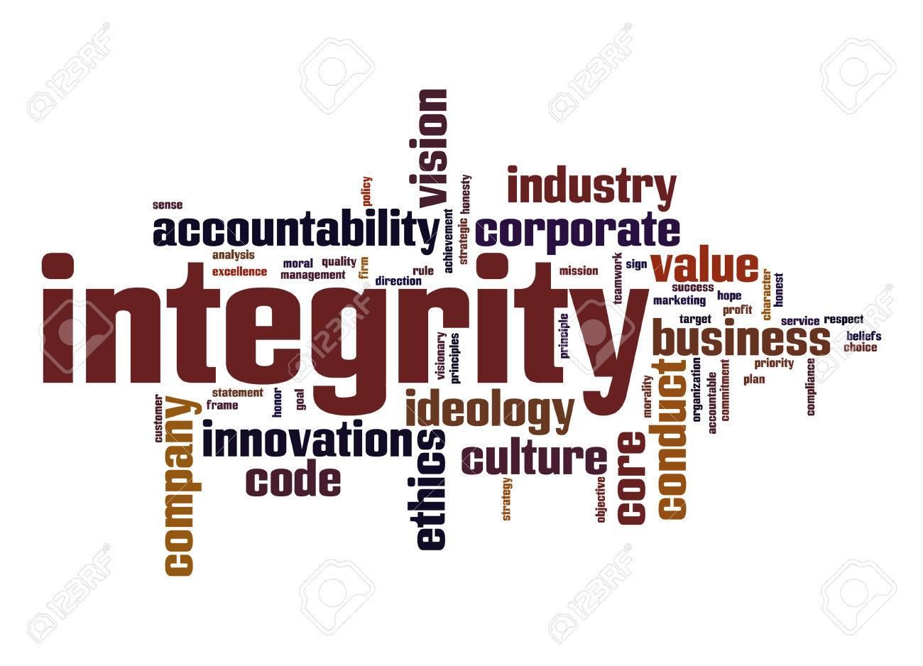 Integrity word cloud - 28564180