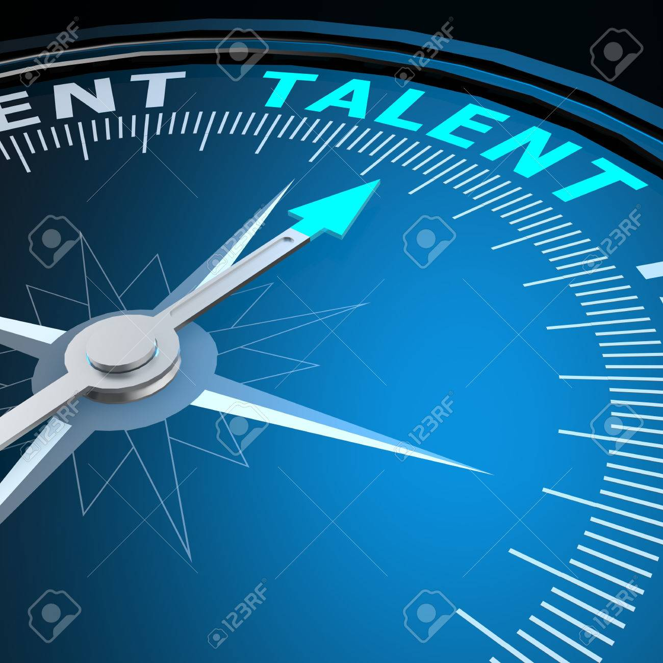 Talent word on compass - 34006590