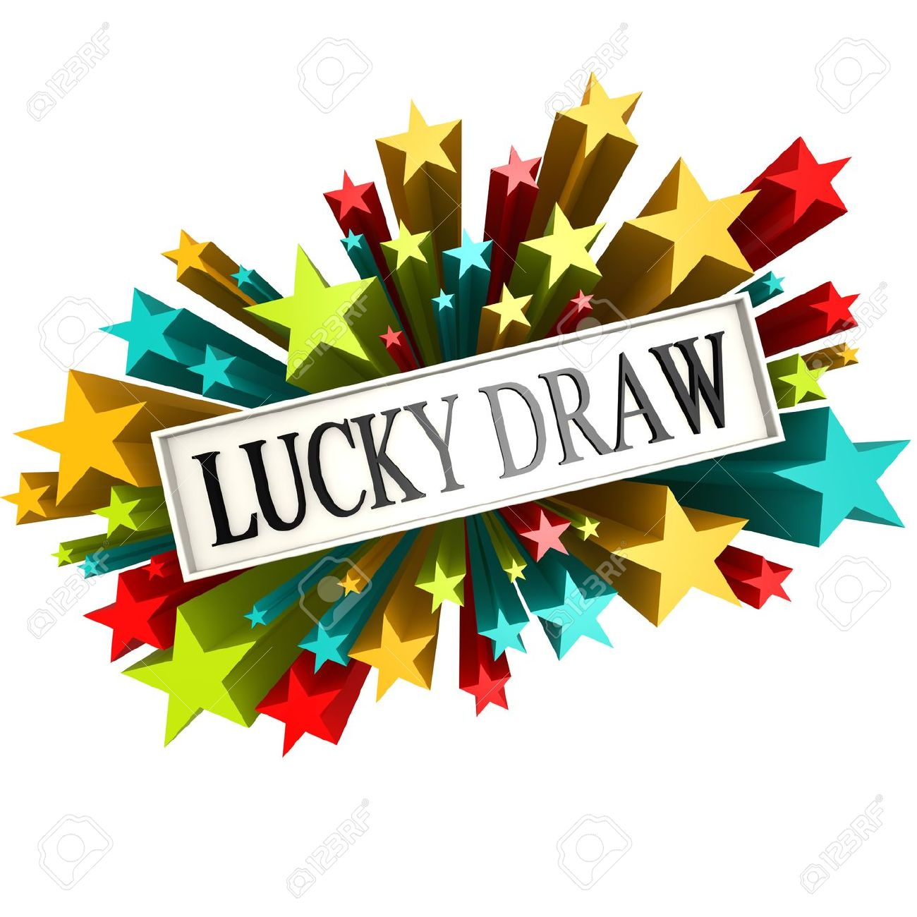 Lucky draw star banner - 34744588