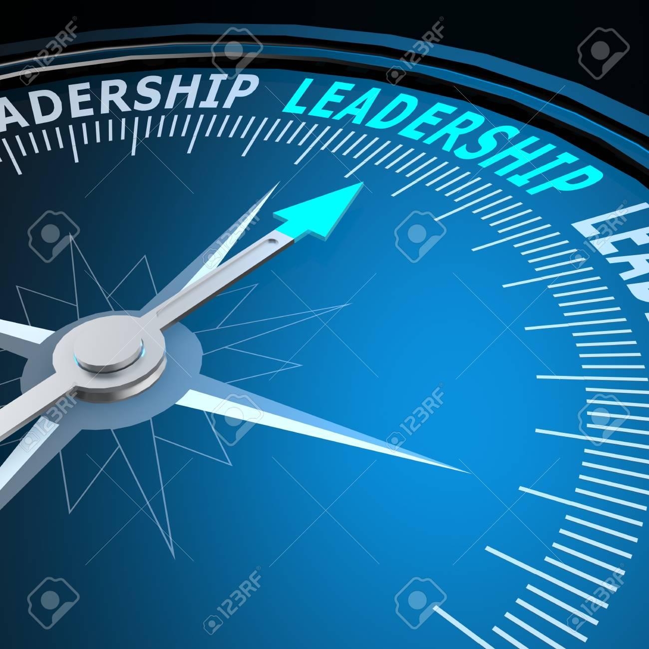 Leadership word on compass - 35317428