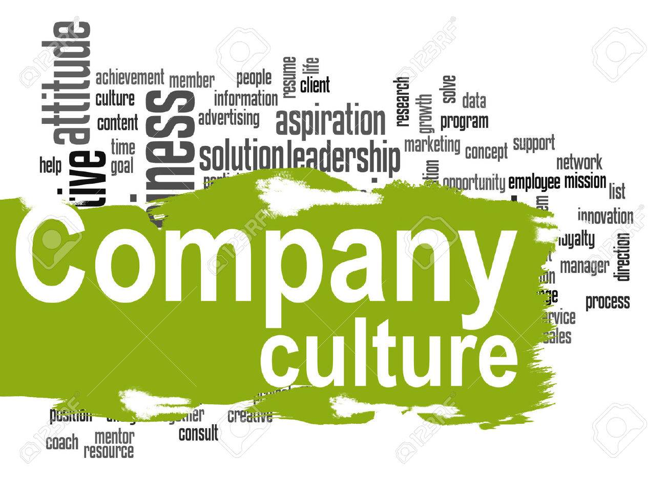 Company culture word cloud image with hi-res rendered artwork that could be used for any graphic design. - 40925161