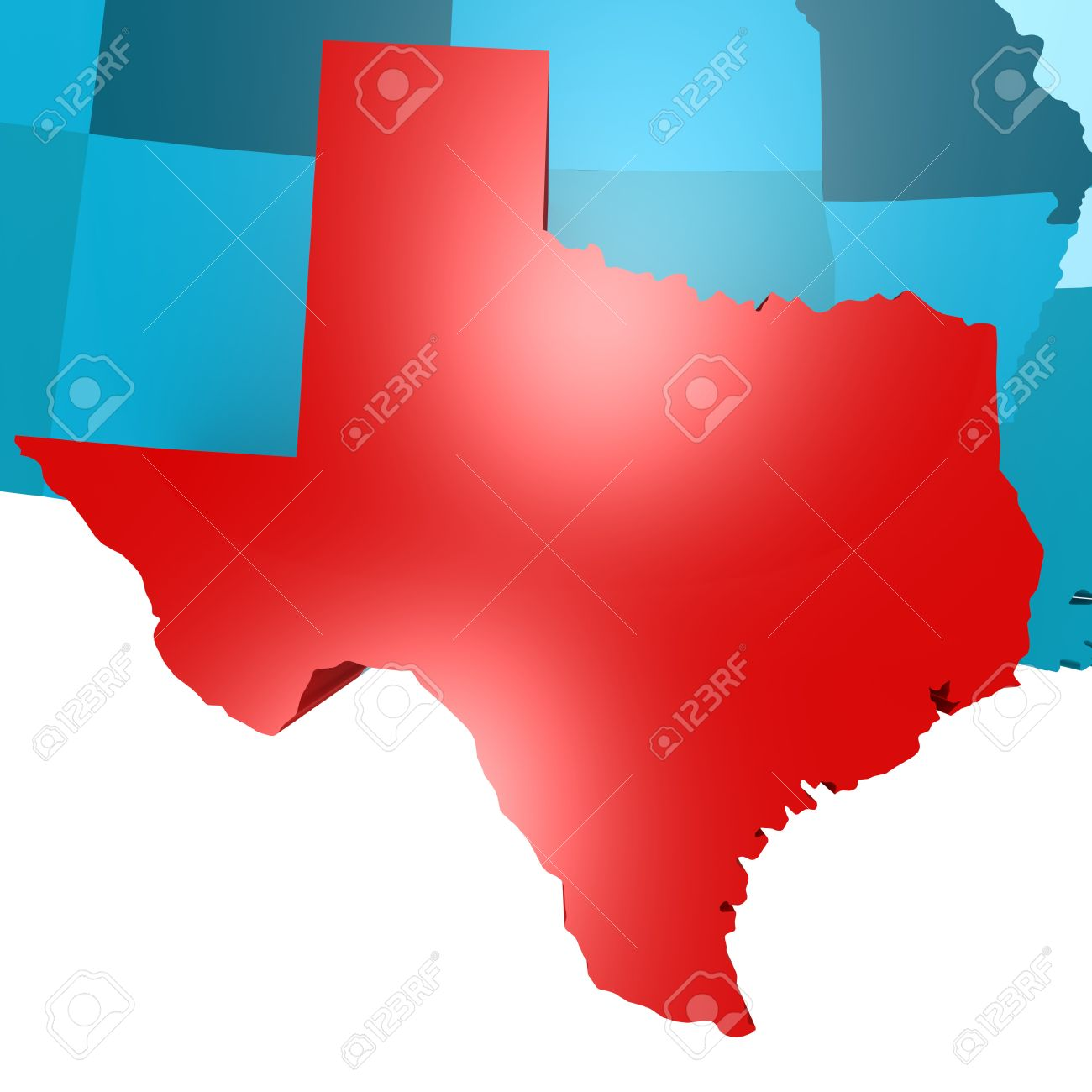 Texas Map On Blue USA Map Image With Hires Rendered Artwork - Texas map usa