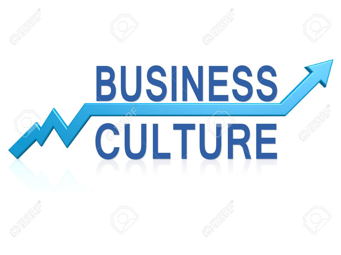 Business culture with blue arrow image with hi-res rendered artwork that could be used for any graphic design. - 43449239