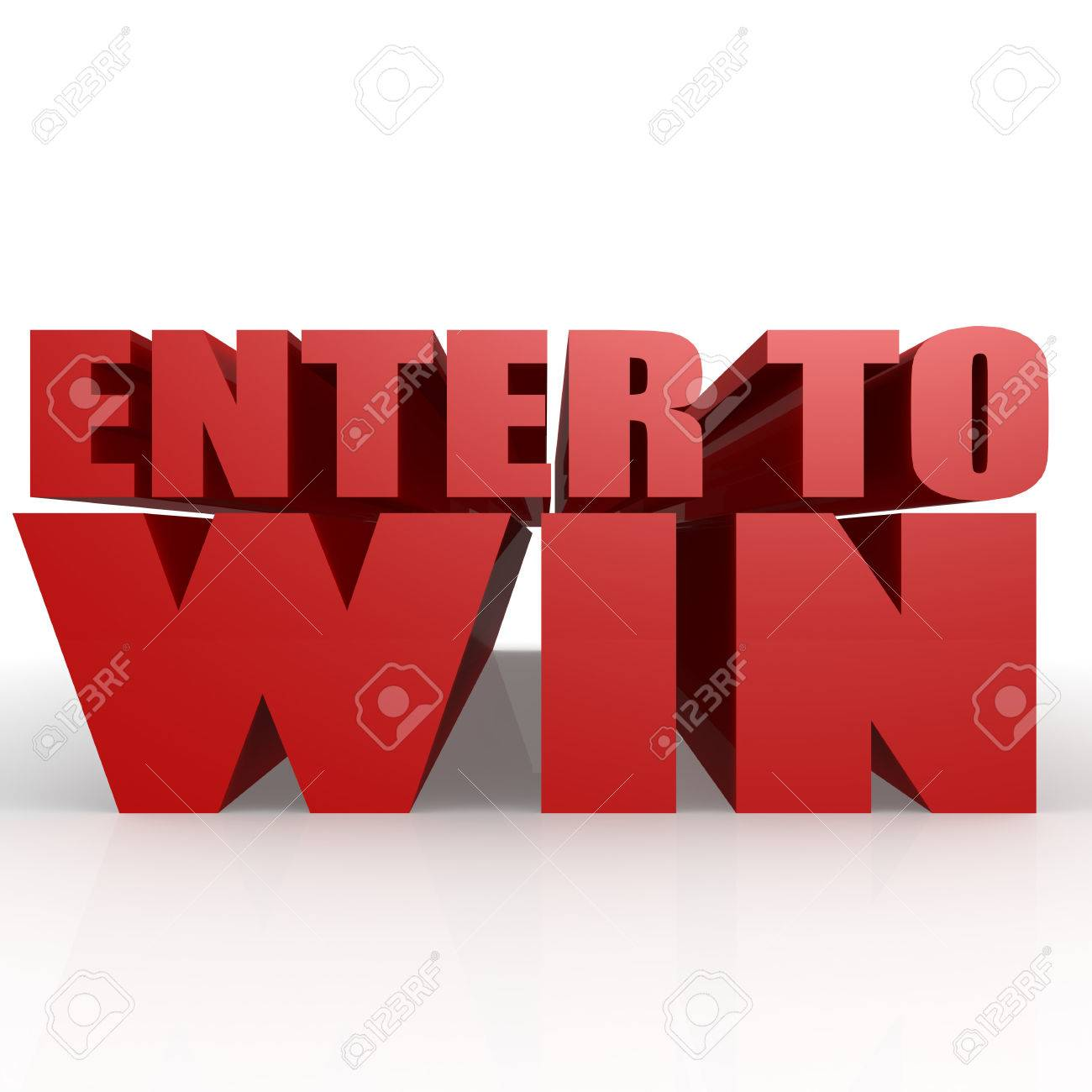 Enter to win image with hi-res rendered artwork that could be used for any graphic design. - 44877307