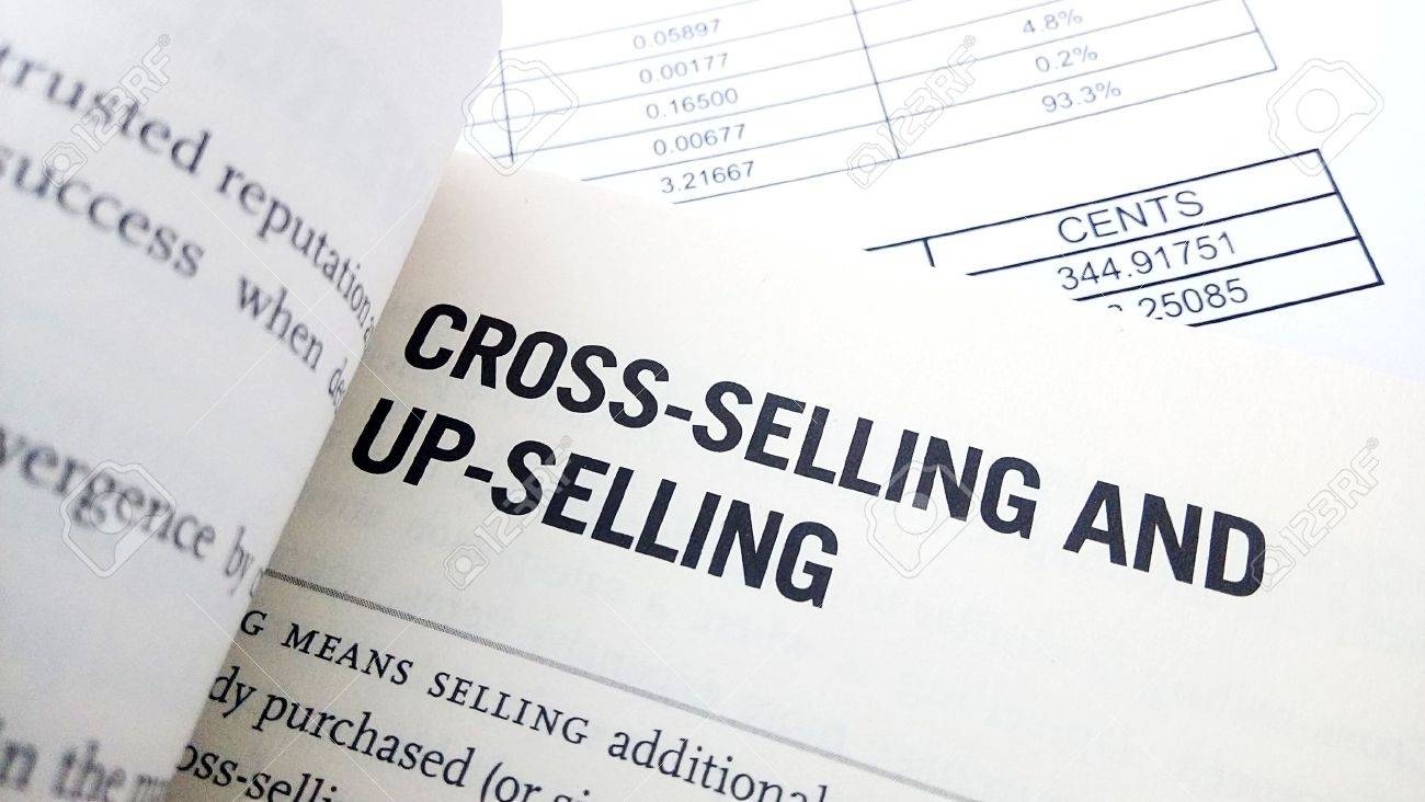 Cross selling word on book. Business success concept. - 55452593