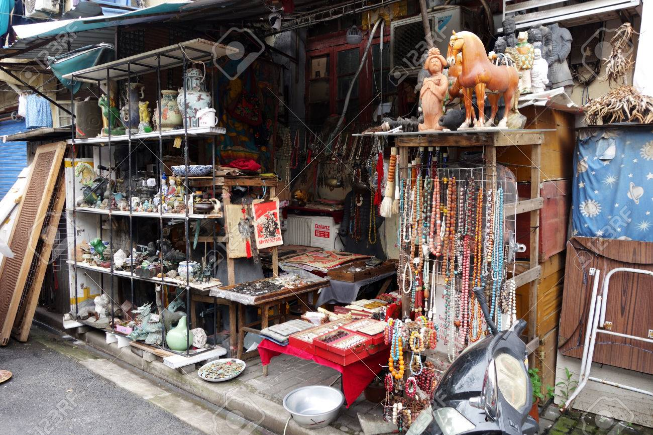 Close Up Of Chinese Antiques For Sale At Dongtai Rd Market Shanghai ...