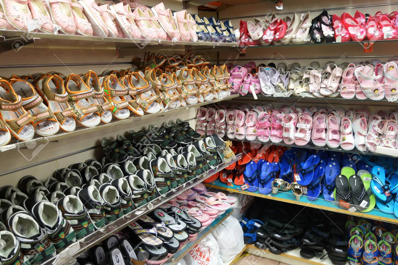 2017: Rows Of Stylish Children Shoes