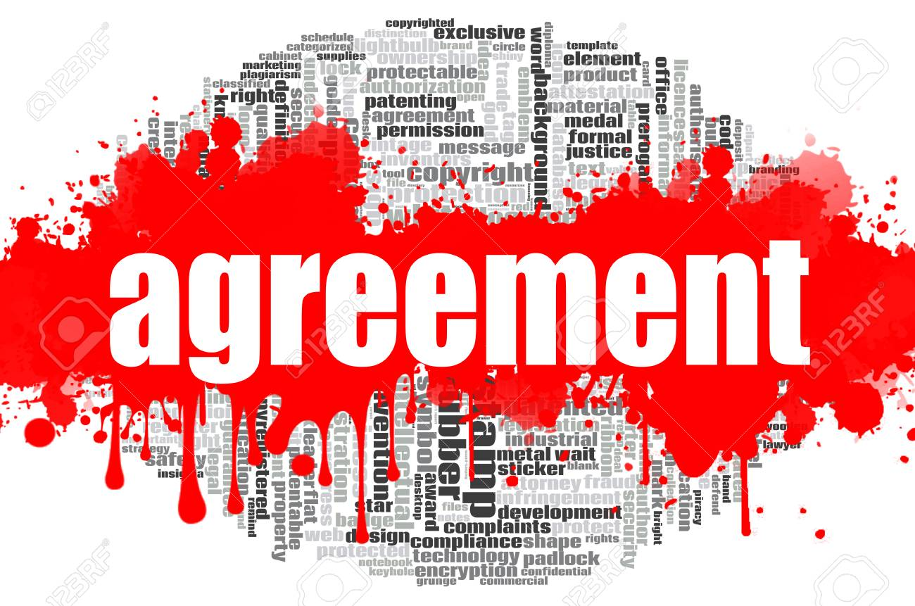 Agreement In Word | Agreement Word Cloud Concept On White Background 3d Rendering