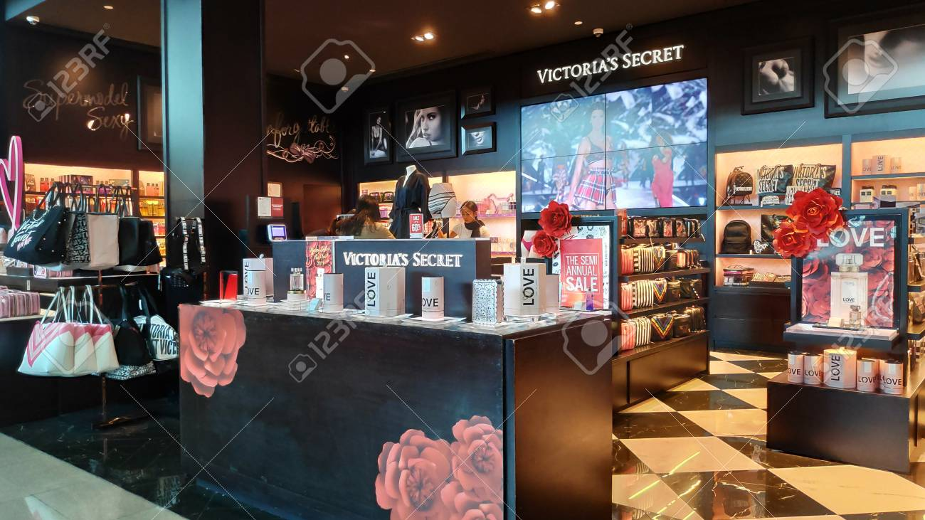 BALI, INDONESIA- 14 FEB, 2019: Victoria Secret outlet after departure