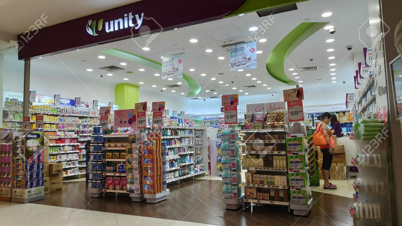 SINGAPORE-24 MAR, 2019: Unity Pharmacy shop in Singapore  Unity