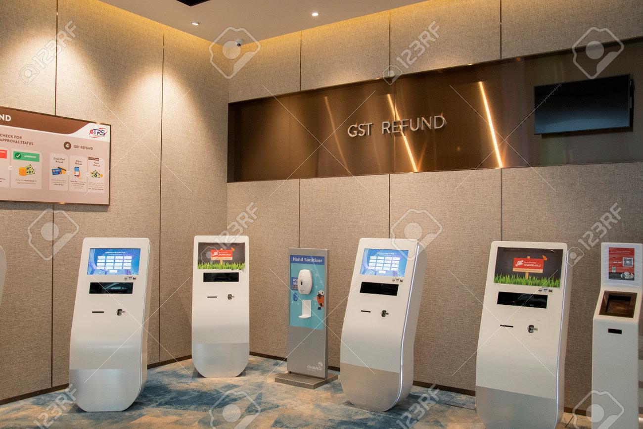 Singapore - Dec 31, 20120: Self service kiosk GST refund for passenger in Jewel Changi Singapore - 163217886