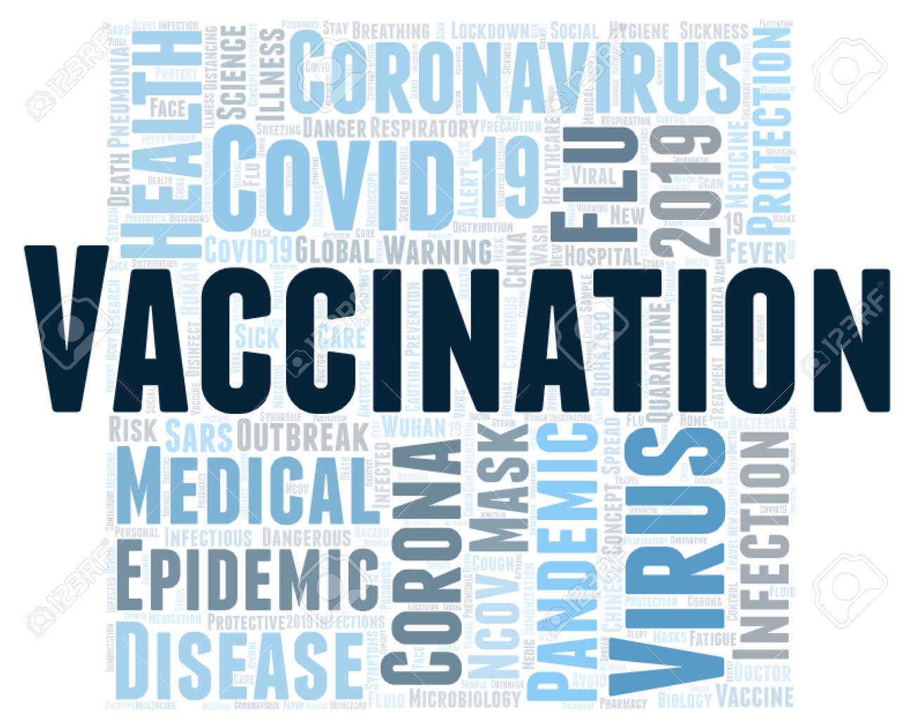 Vaccination word cloud concept on white background, 3d rendering - 171776963
