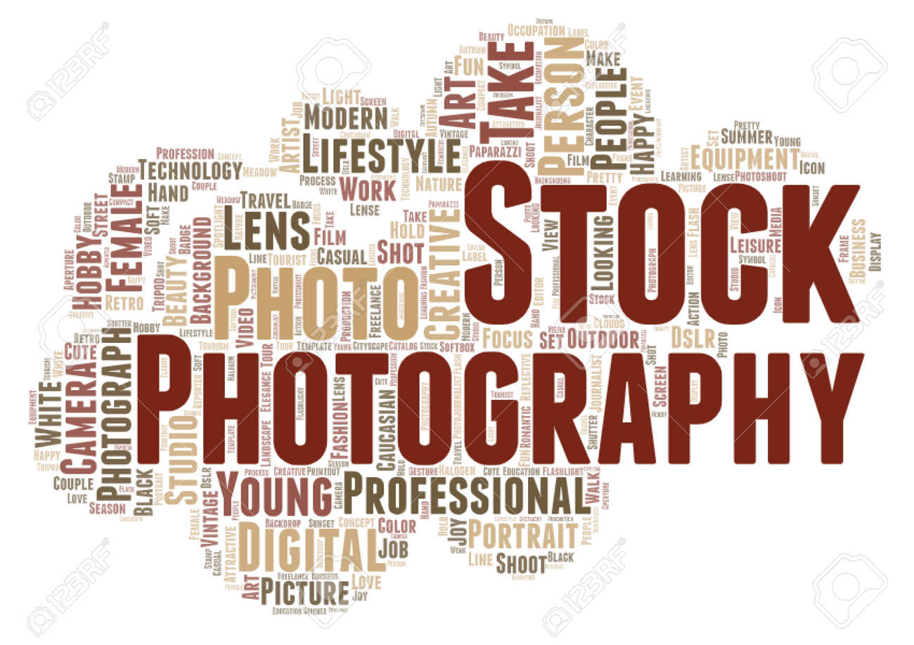 Stock photography word cloud concept on white background, 3d rendering - 171843038