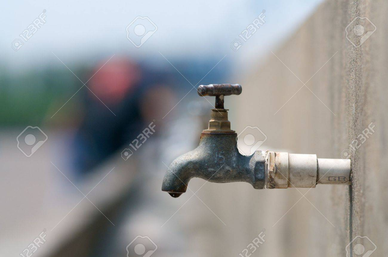 Dripping Water Faucet Outdoor Stock Photo, Picture And Royalty Free ...