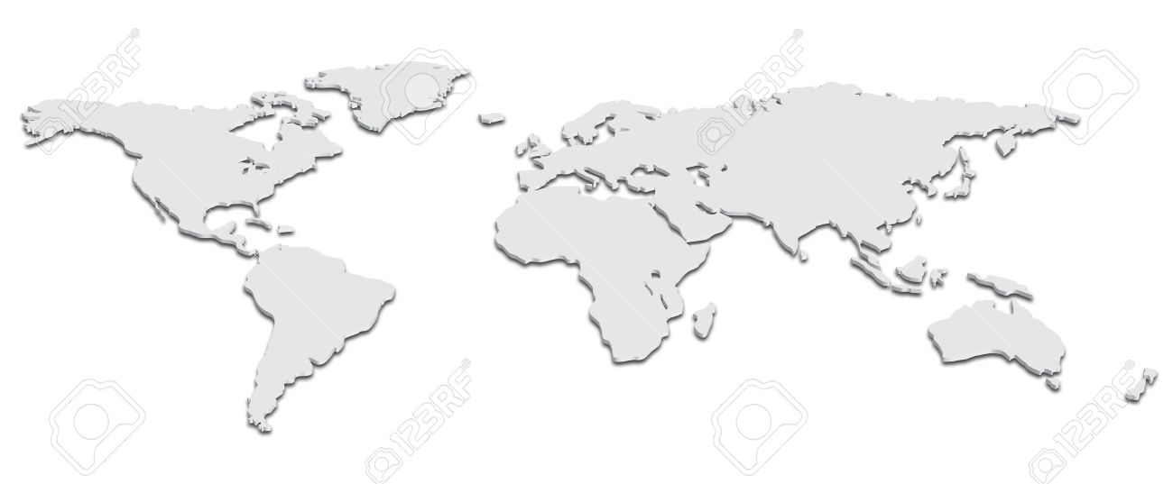 A world map in black and white 3d royalty free cliparts vectors a world map in black and white 3d stock vector 15513390 gumiabroncs Image collections