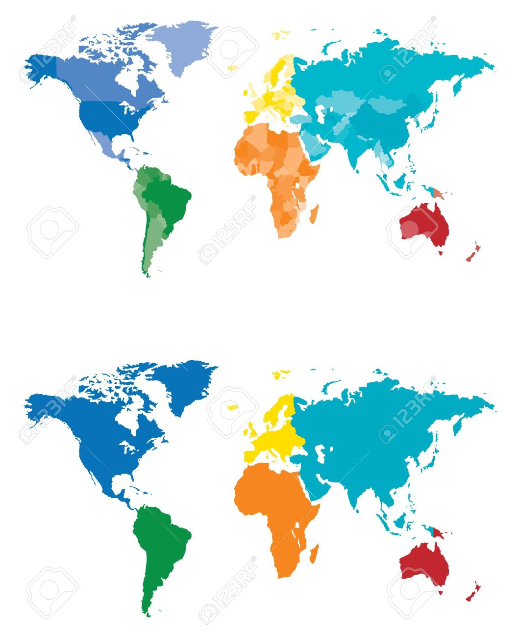 Continent and country map separated by color royalty free cliparts continent and country map separated by color stock vector 15513359 gumiabroncs Choice Image
