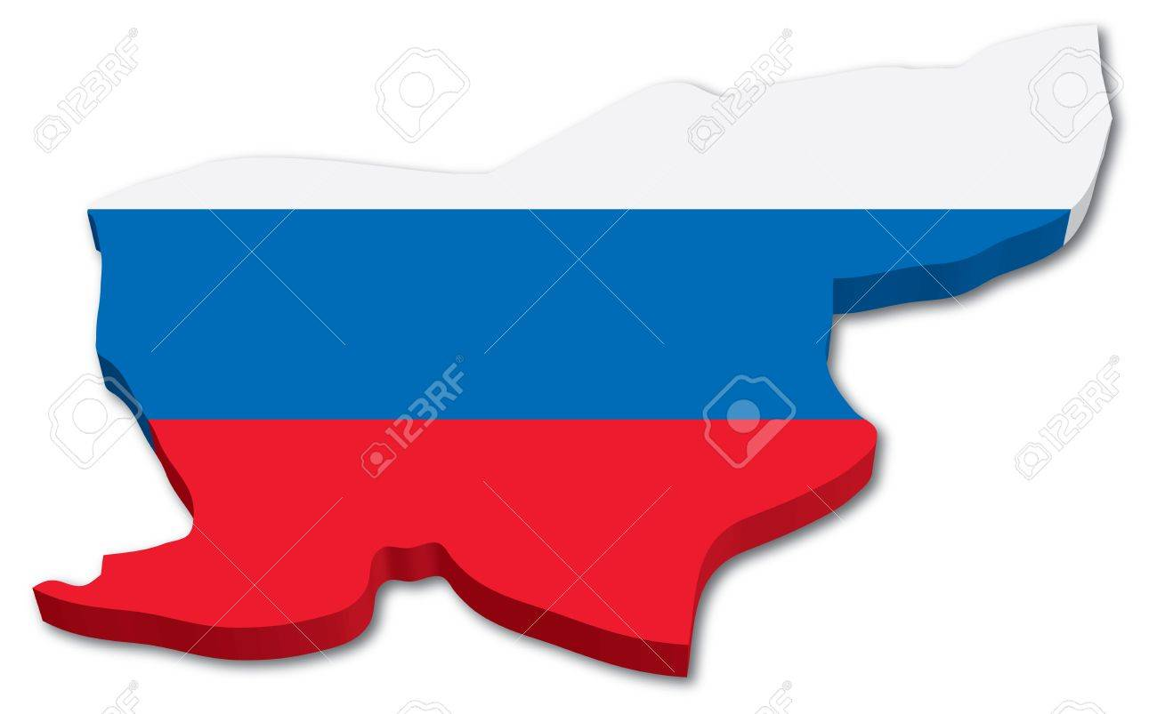 3D Slovenia map with flag illustration on white background Stock Vector - 15513326