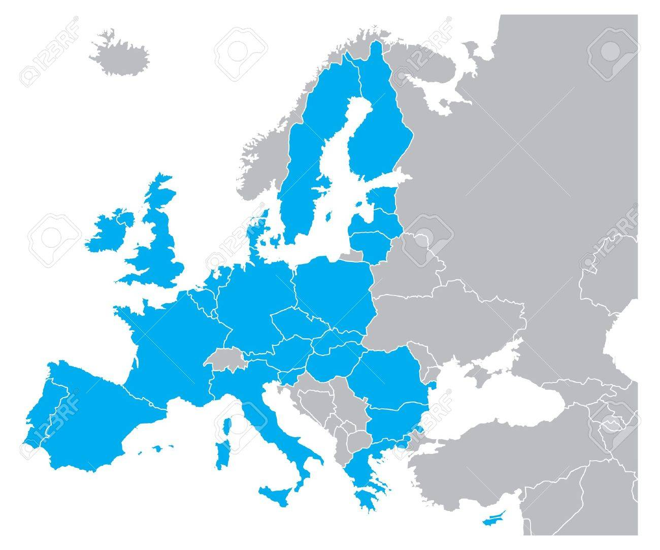 Blue Color Map Of Europe Royalty Free Cliparts Vectors And Stock Illustration Image 15513367
