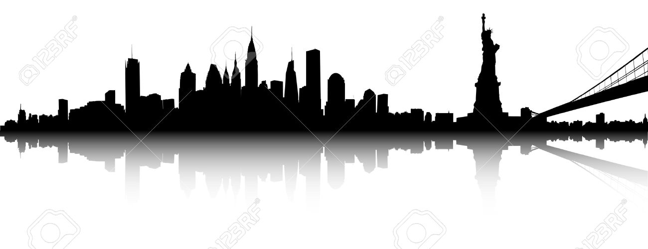 vector part of the new york skyline royalty free cliparts vectors rh 123rf com new york skyline silhouette vector free new york skyline vector free