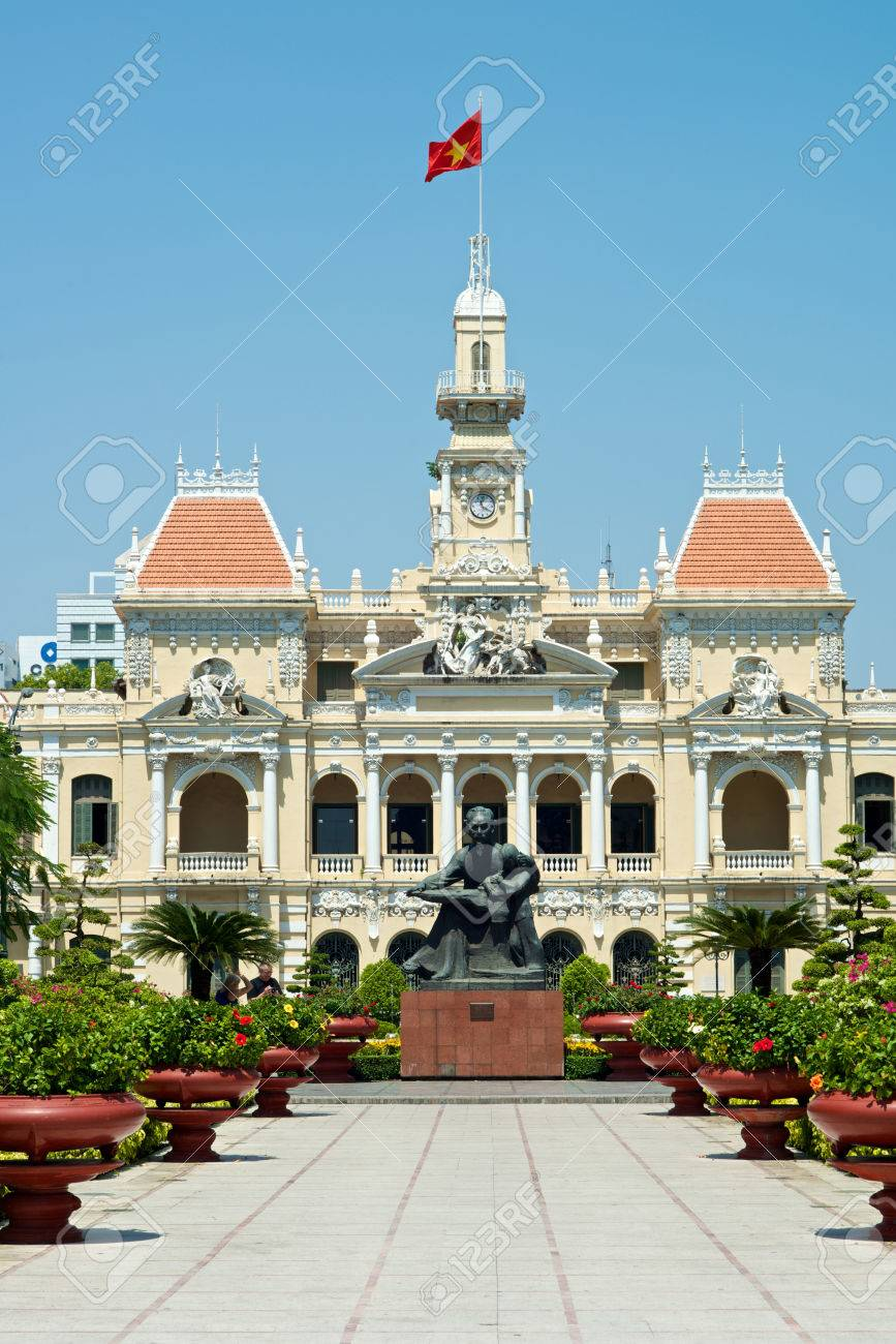 Ho Chi Minh Government Building In Vietnam Stock Photo, Picture ...