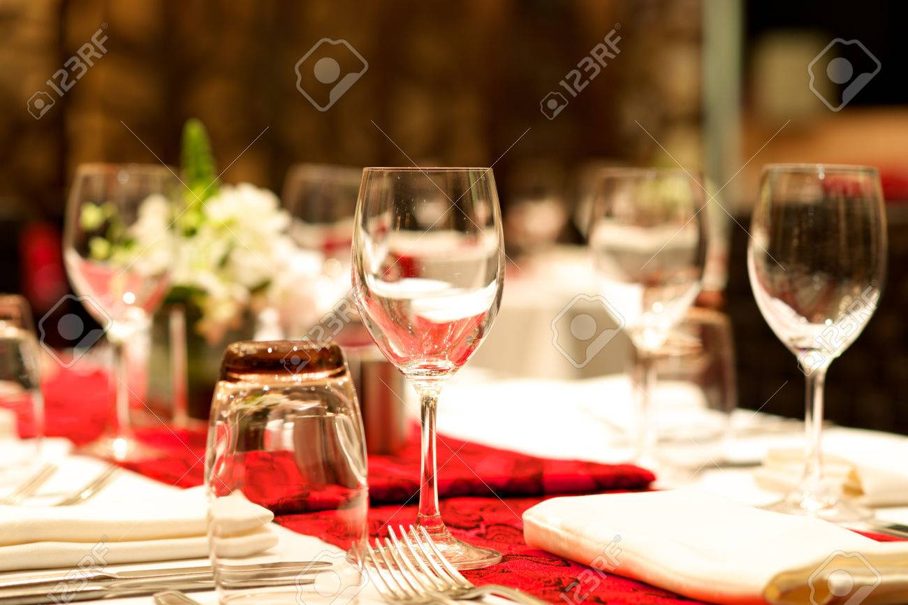 wedding Dinner banquet table set up Stock Photo - 36470157 & Wedding Dinner Banquet Table Set Up Stock Photo Picture And ...