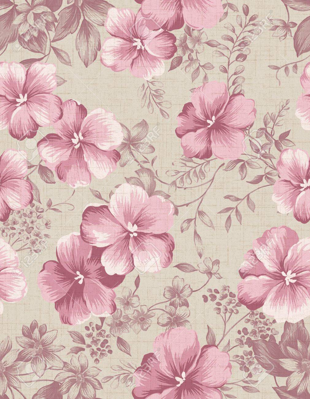 Seamless floral background Stock Photo - 9972011
