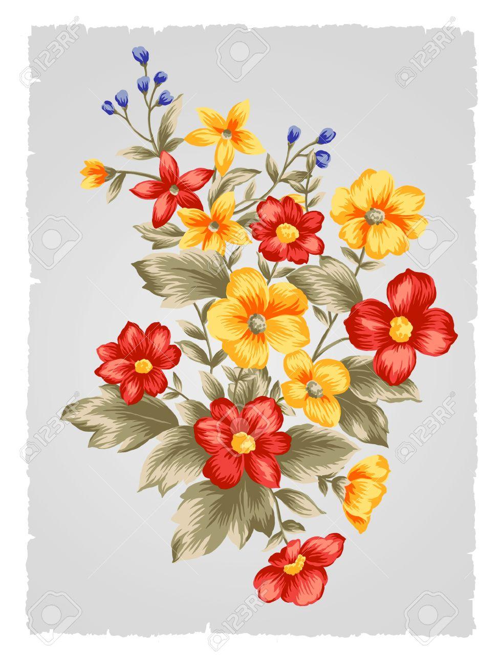 Beautiful Flower Bouquet Design-Simple Background Stock Photo ...