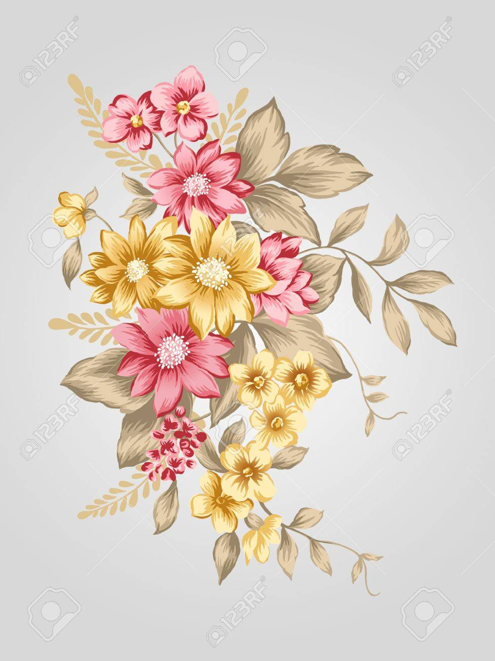 Beautiful Flower Bouquet Design Simple Background Stock Photo Picture And Royalty Free Image Image 12935524