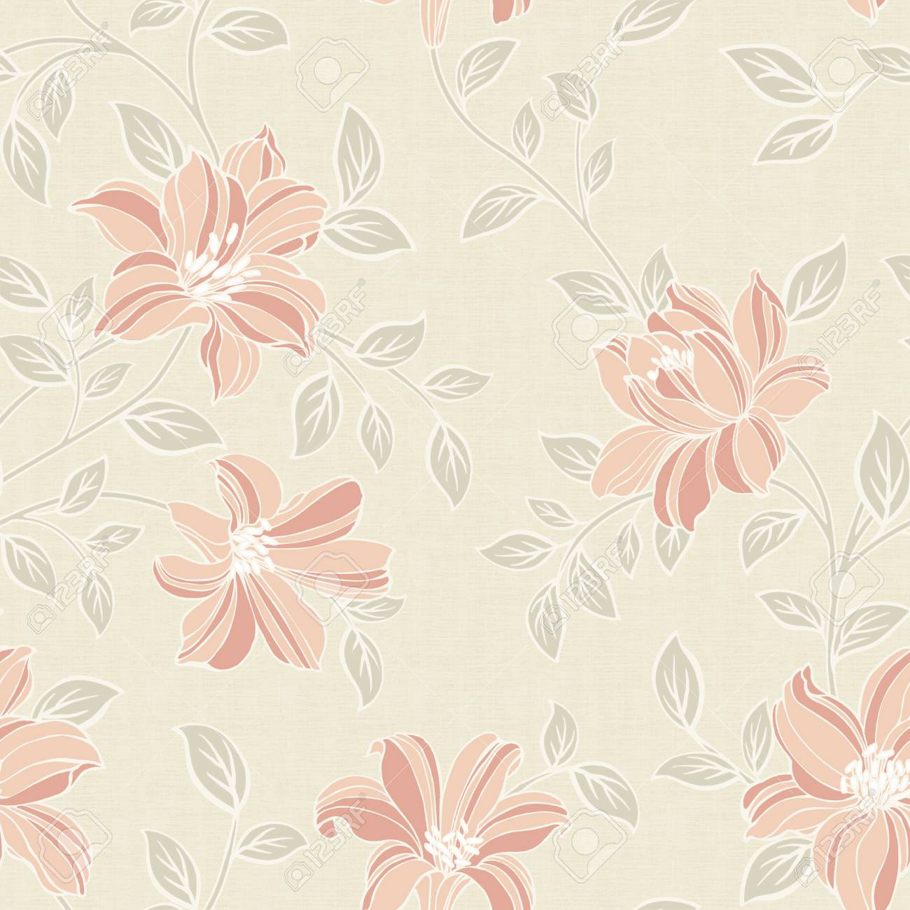 Classical style pattern seamless background - For easy making seamless pattern use it for filling any contours Stock Photo - 23095756
