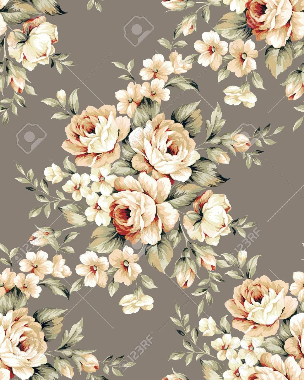 Fresh spring flowers seamless pattern - For easy making seamless pattern use it for filling any contours - 72285625
