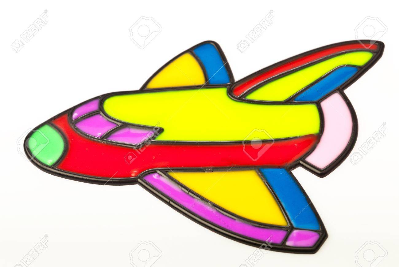 airplane graphic on silicone kid's art Stock Photo - 8306255