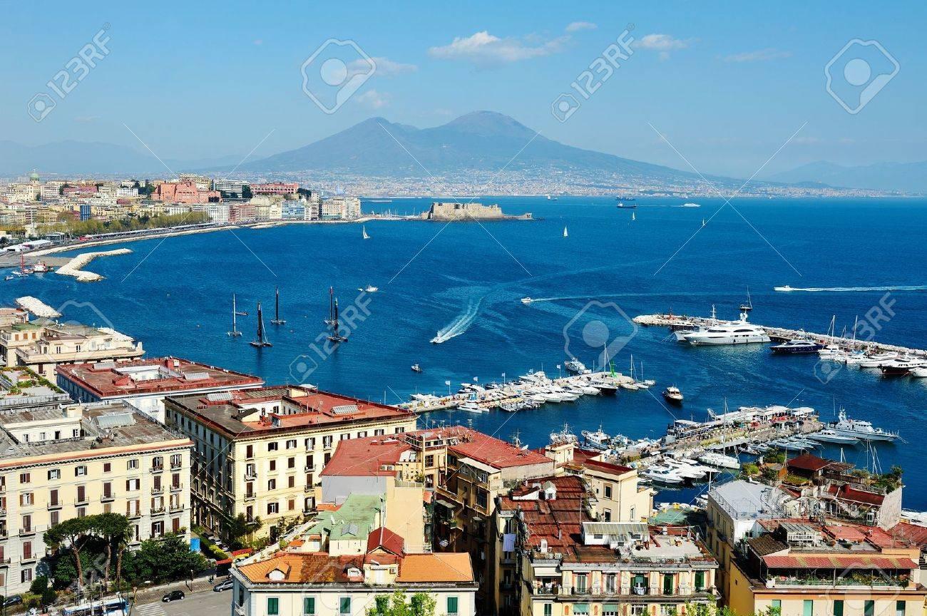 wonderful Naples panoramic view with Vesuvius and gulf from Posillipo - 20049455