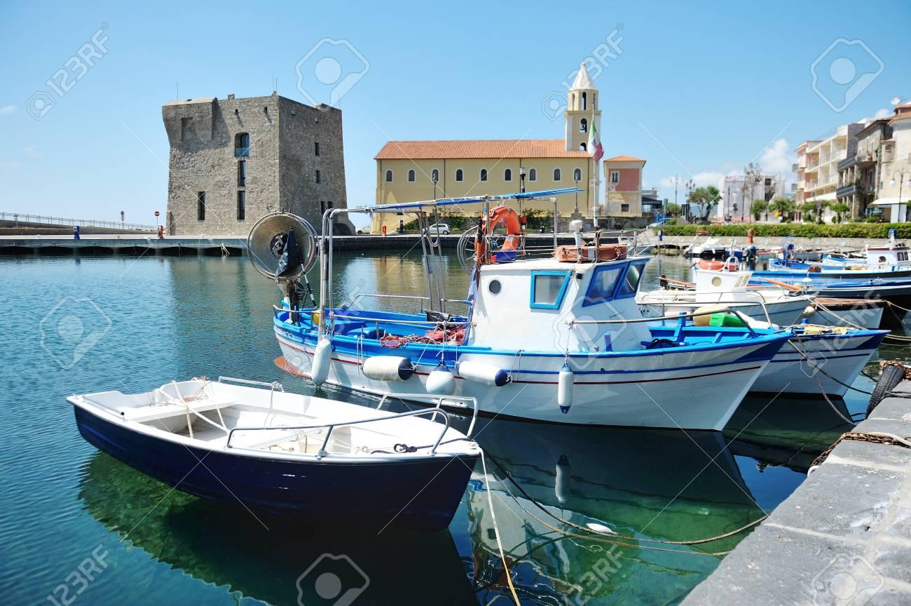 The boats in Port of Acciaroli, Cilento National Park. Salerno. Southern Italy - 105482886