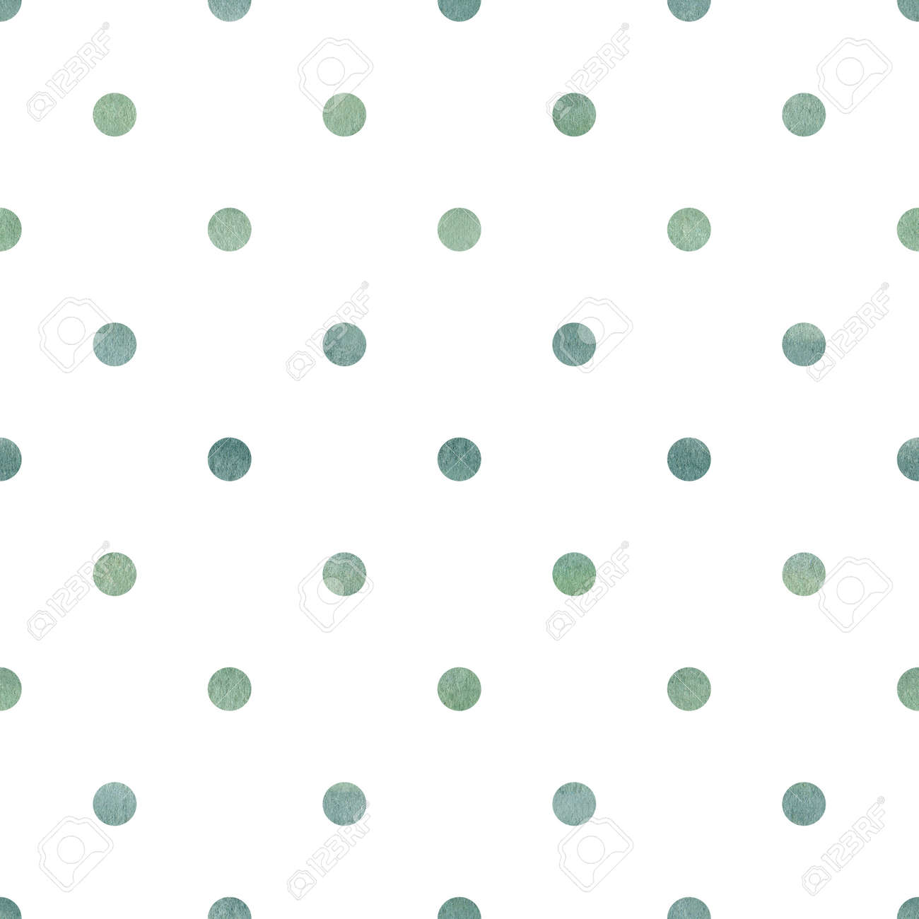 Watercolor hand painted dots seamless pattern digital paper. Graphics for logo, diy, modern design. - 164085511
