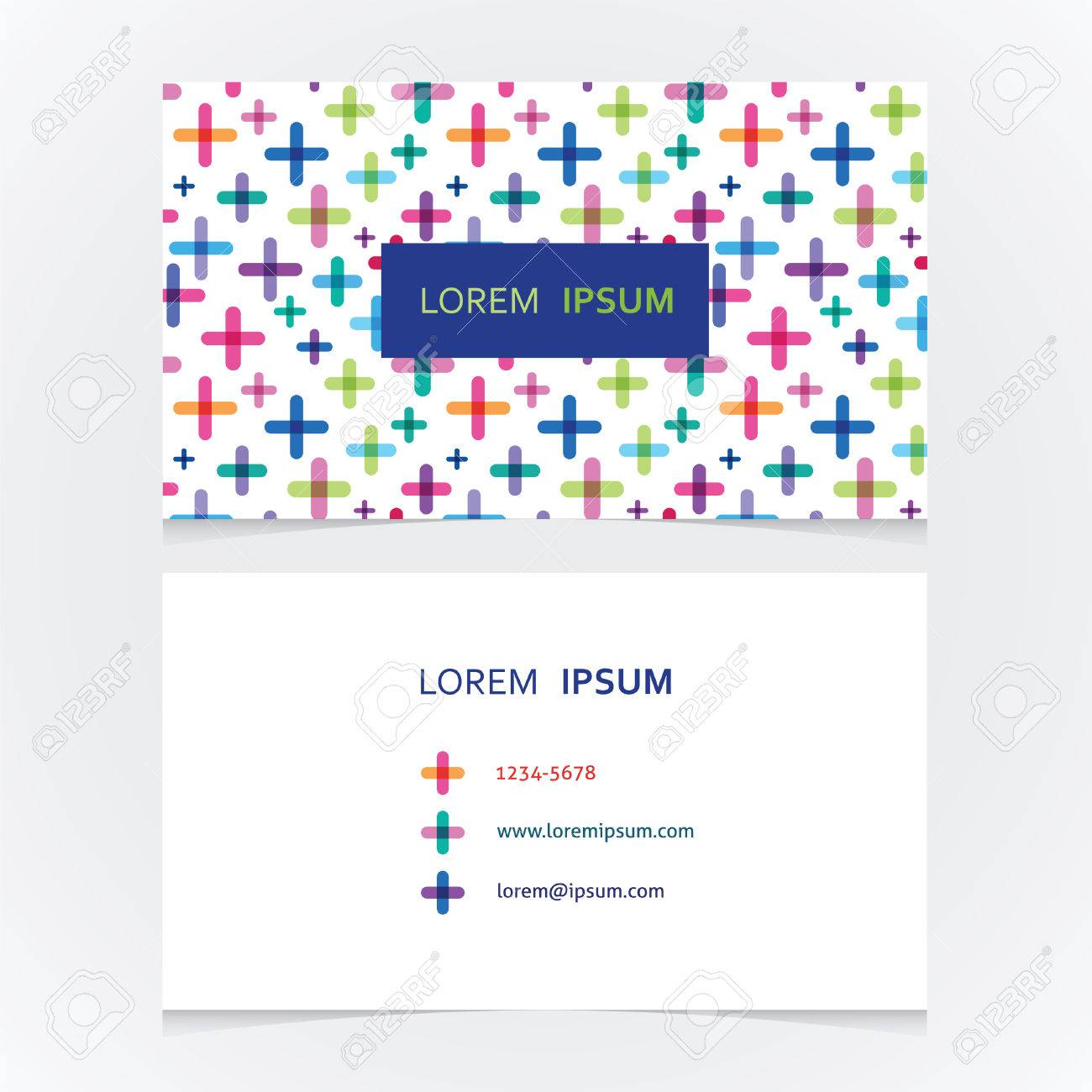 Cute business card with a bright pattern royalty free cliparts cute business card with a bright pattern stock vector 29298902 colourmoves
