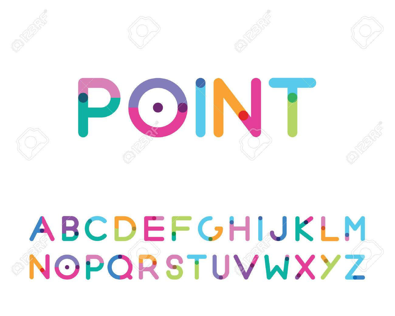 font with a bright point capital letters - 38635401