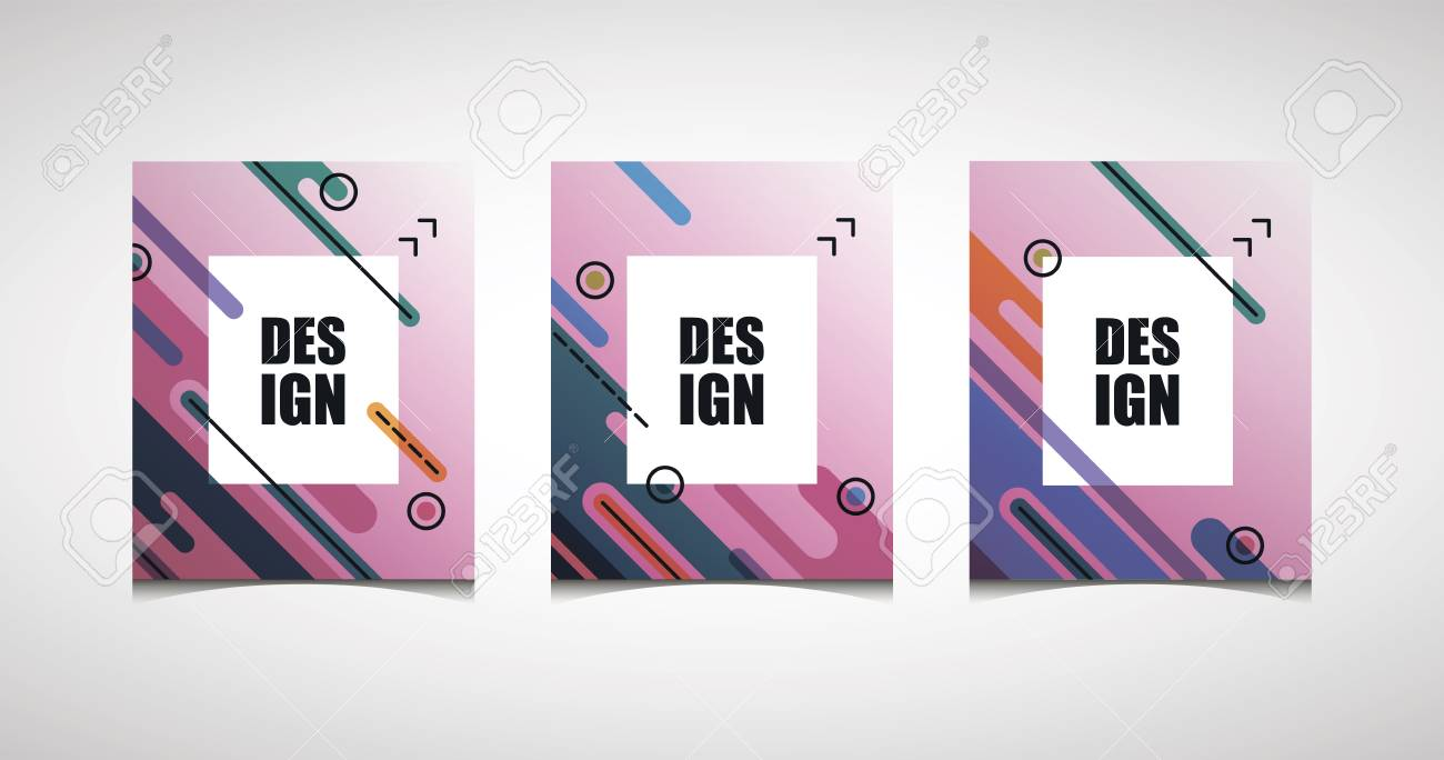 Vector Diagonal Bright Frame For Design Business Cards, Invitations ...