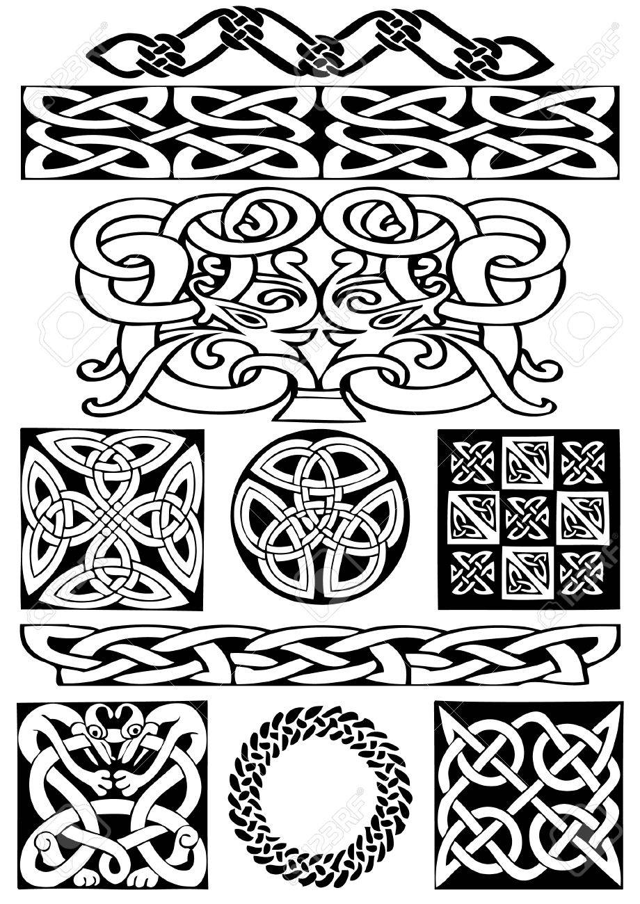 Celtic vector art-collection on a white background. Stock Vector - 5960438