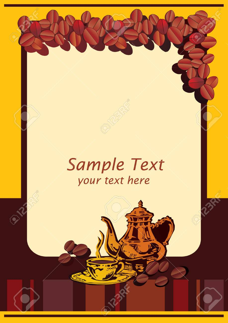 Cafe Menu Template With Place For Sample Text Vector Art – Sample Cafe Menu Template