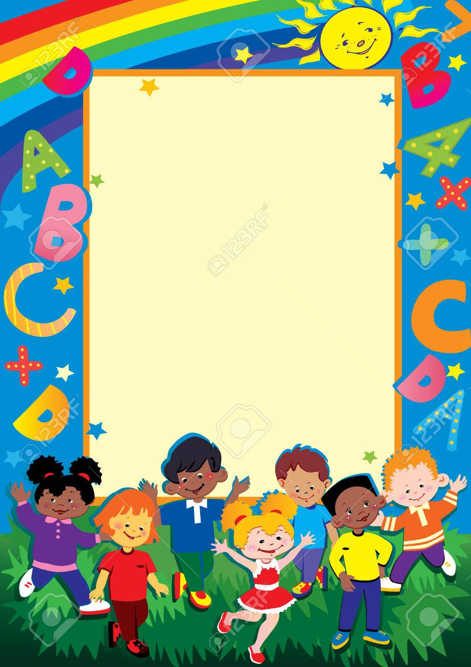 School childhood. Place for your text.  art-illustration. Stock Vector - 7208900