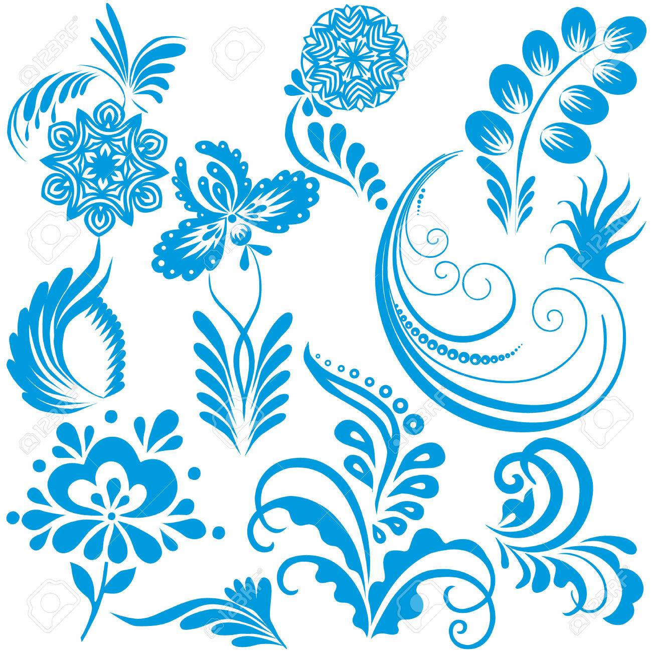Vector design elements for Christmas and New Year on a white background. Stock Vector - 8512018