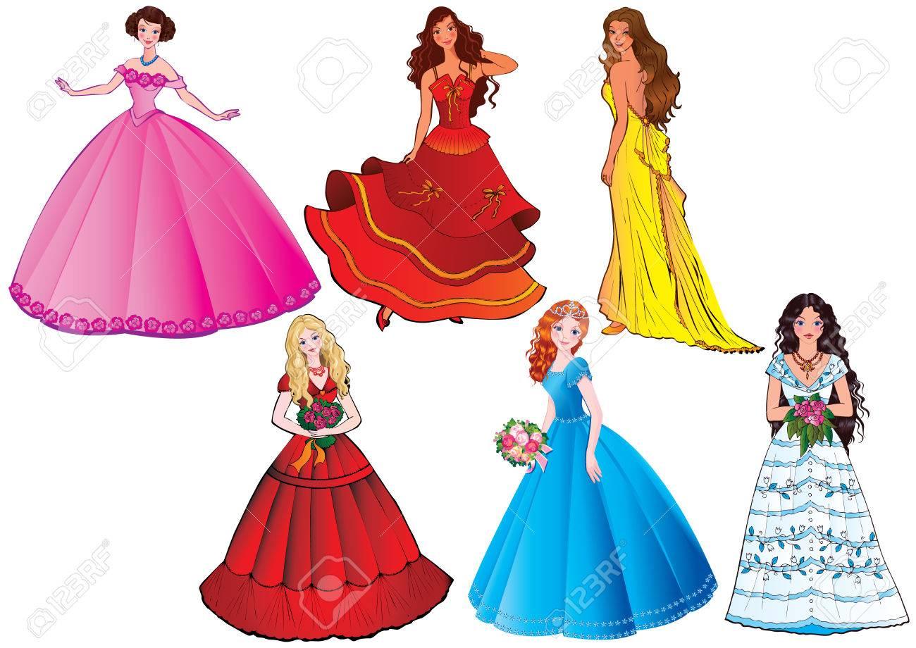 Beautiful girls. art-illustration on a white background. Stock Vector - 8643868